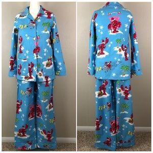 Nick & Nora Santa Claws Lobster Pajama Set